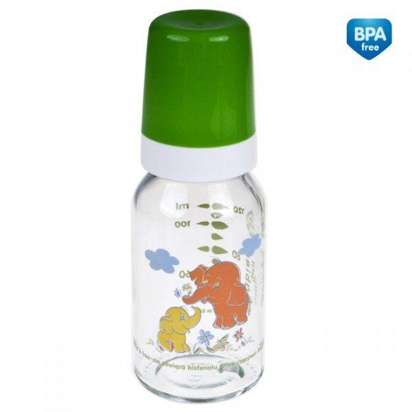 CANPOL Butelka szklana z nadrukiem 120 ml symbol - 42/202