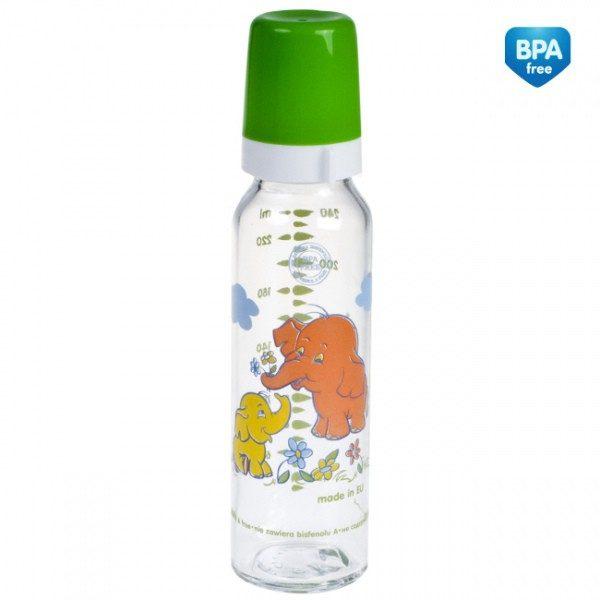 CANPOL Butelka szklana z nadrukiem 240 ml symbol 42/201