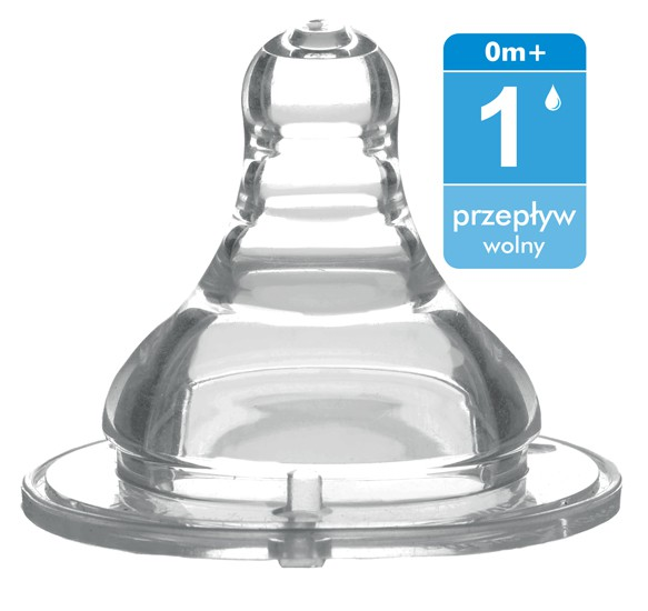 BABY ONO Smoczek szerokootworowy przepływ 1 wolny 0m+ nr. kat 1204