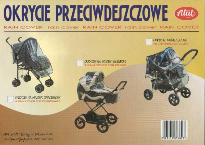 ATUT Pokrowiec przeciwdeszczowy uniwersalny na wózek głęboki