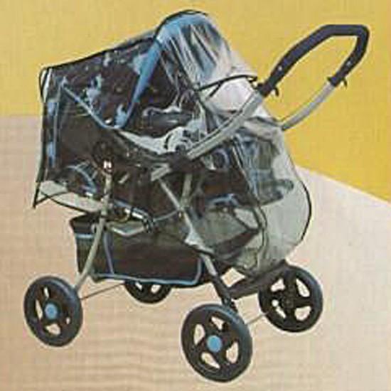 ATUT Pokrowiec przeciwdeszczowy uniwersalny na wózek spacerowy z przekładaną rączką