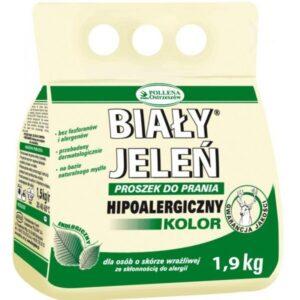 BIAŁY JELEŃ Hipoalergiczny proszek do prania Koloru 1,9kg