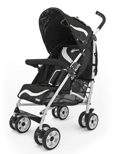 MILLY MALLY Rider New czarny lekki wózek spacerowy
