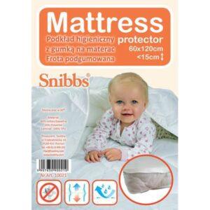 SNIBBS Podkład higieniczny Mattress frotte z gumką na materac 60x120cm