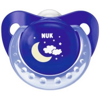 NUK Silikonowy smoczek uspokajający Trendline Night&Day 1 (0-6m) art. 729.527