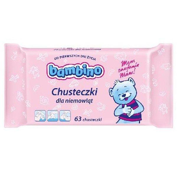 BAMBINO Chusteczki nawilżane dla niemowląt 63 szt.
