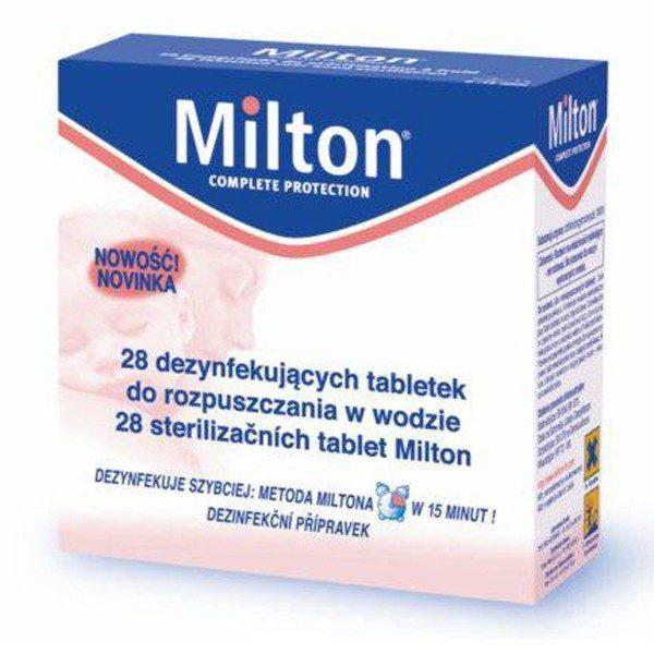 MILTON Dezynfekujące tabletki do rozpuszczania w wodzie 28szt.