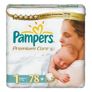 PAMPERS 1 Pieluchy Newborn Premium Care 2-5 kg. 88 szt.