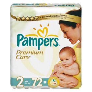 PAMPERS 2 Pieluchy Newborn Premium Care 3-6 kg. 72 szt.