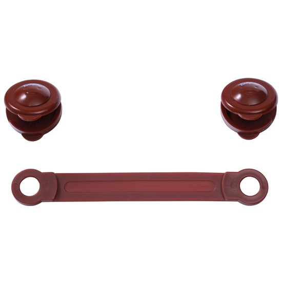 BABY ONO Zabezpieczenie uniwersalne 953/02 brązowe do szafek, lodówek, toalet