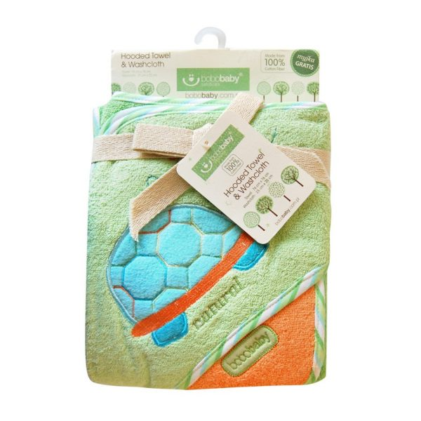 BOBOBABY Okrycie kąpielowe ECO + myjka 76x76 cm OKR-ECO