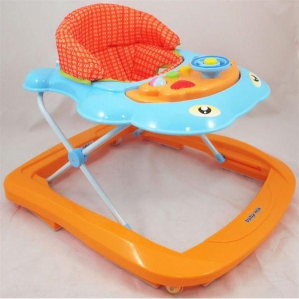 BABY MIX Chodzik dla dziecka niebiesko-pomarańczowy UR-J2013