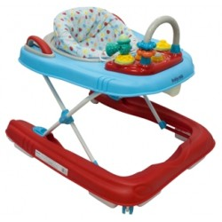 BABY MIX Chodzik Pchacz Red-Blue BG-0416