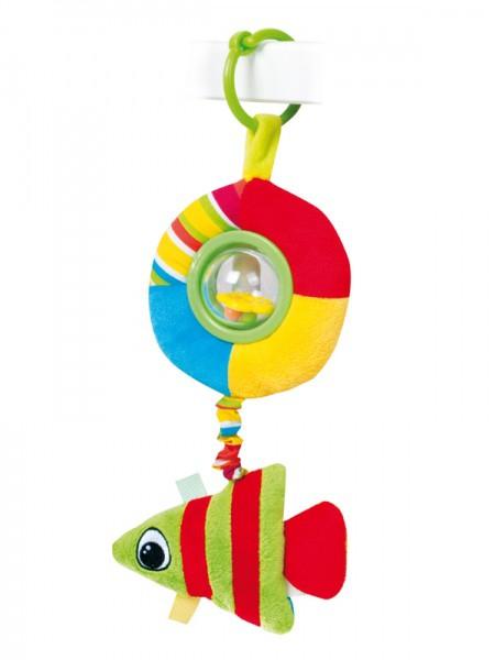 CANPOL Pluszowa zabawka z grzechotką i piszczałką Kolorowy ocean 68/018