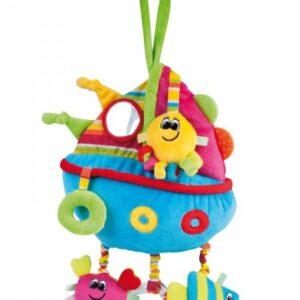 CANPOL Pluszowa zabawka edukacyjna Kolorowy ocean Statek 68/016