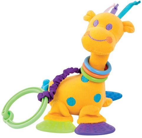 CANPOL Pluszowa zabawka z grzechotką i gryzaczkami Żyrafka 2/403