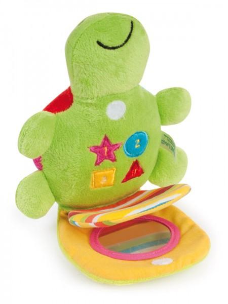 CANPOL Pluszowa zabawka dźwiękowa Kolorowy ocean Żółw 68/019