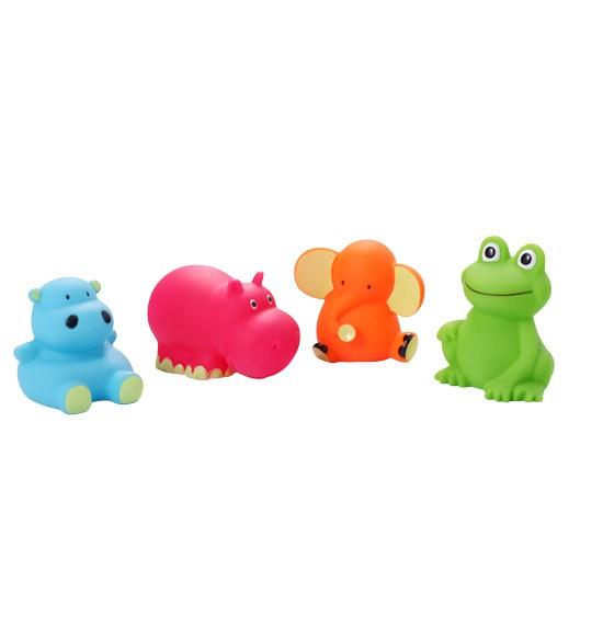 BABY ONO Zabawki do kąpieli zwierzęta średnie 4 szt. 867
