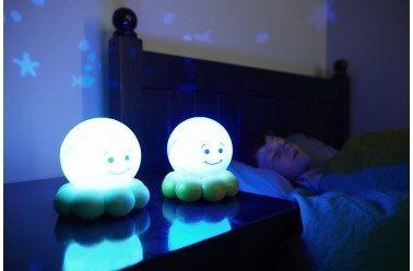 CLOUD B Lampka nocna Magiczna Ośmiorniczka niebieska