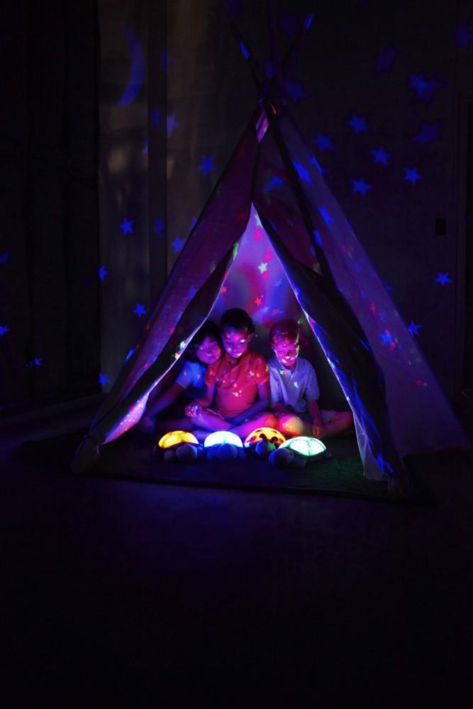 CLOUD B Lampka nocna Magiczne konstelacje Żółw niebieski