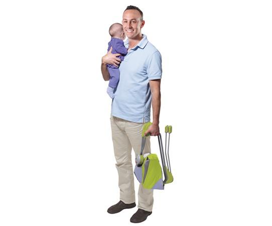 TINY LOVE Podróżny leżaczek dziecięcy szaro-zielony
