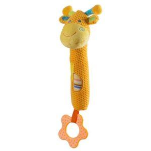 BABY ONO Zabawka piszcząca z gryzakiem Piszcząca Żyrafa 1333