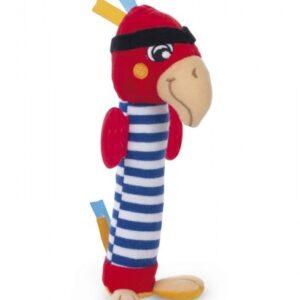 CANPOL Pluszowa zabawka z piszczałką Papuga 68/034