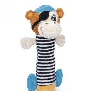 CANPOL Pluszowa zabawka z piszczałką Małpka 68/034