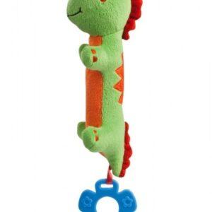 CANPOL Pluszowa zabawka z piszczałką Dinozaury 71/005