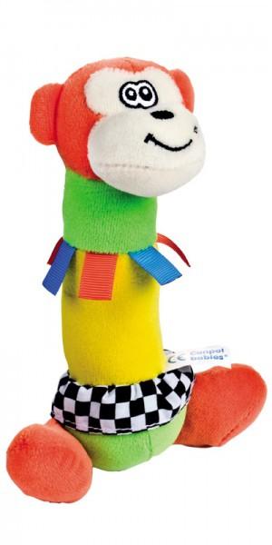 CANPOL Pluszowa zabawka z piszczkiem Hipcio/Małpka 68/008