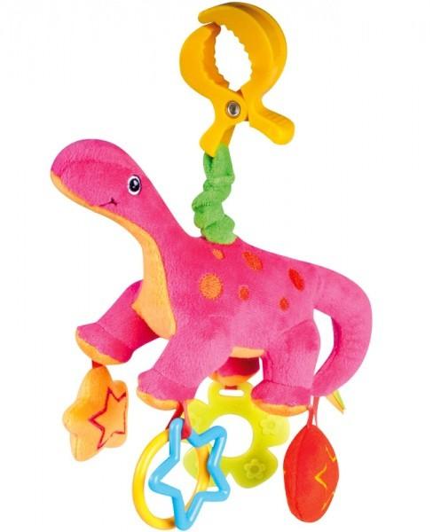 CANPOL Pluszowa zabawka wibracyjna Dinozaury 71/003