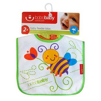 BOBOBABY Śliniak dla dzieci S-D23 2szt. 0-12m
