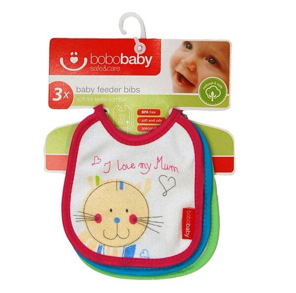 BOBOBABY Śliniak dla dzieci S-3szt. D 0-12m