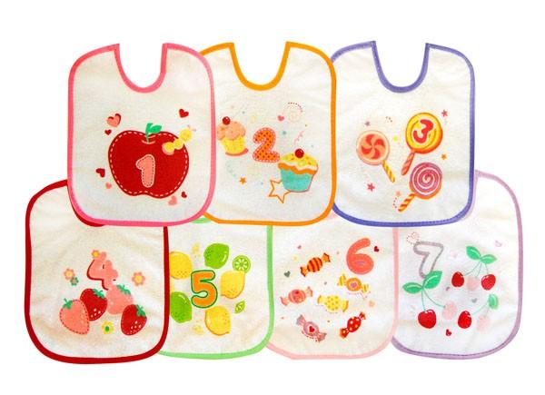 BOBOBABY Śliniak dla dzieci S-7szt. 0-12m