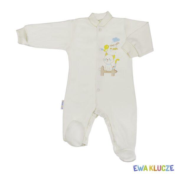 EWA KLUCZE Pajacyk niemowlęcy Rodzinka 56-62 cm bawełna dł. rękaw