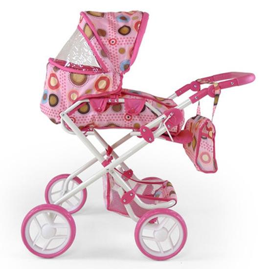 MILLY MALLY Wózek dla lalek Paulina brązowy