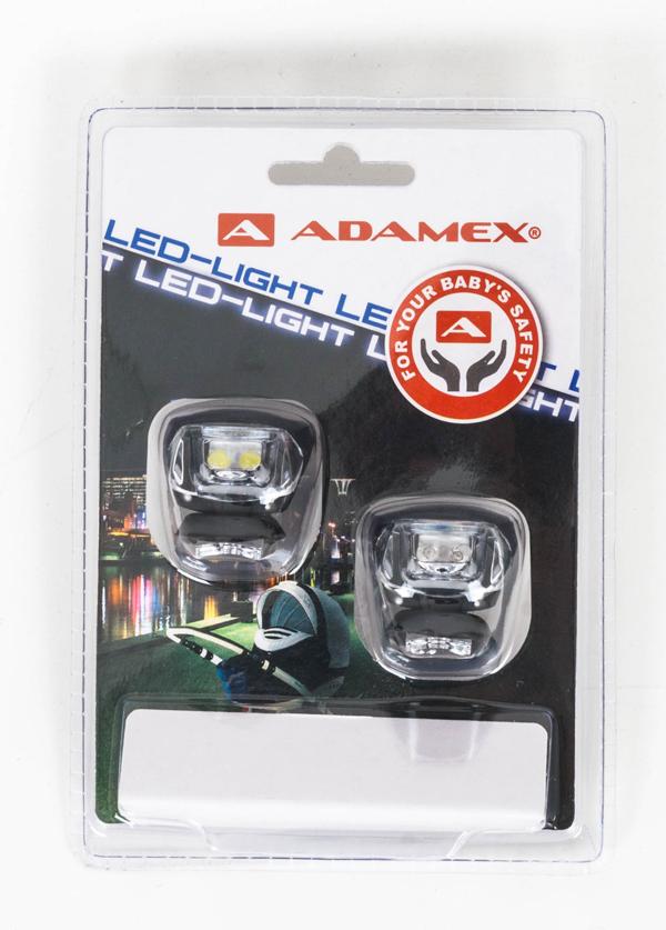 ADAMEX Światełka Led do oświetlenia wózka dziecięcego 2szt