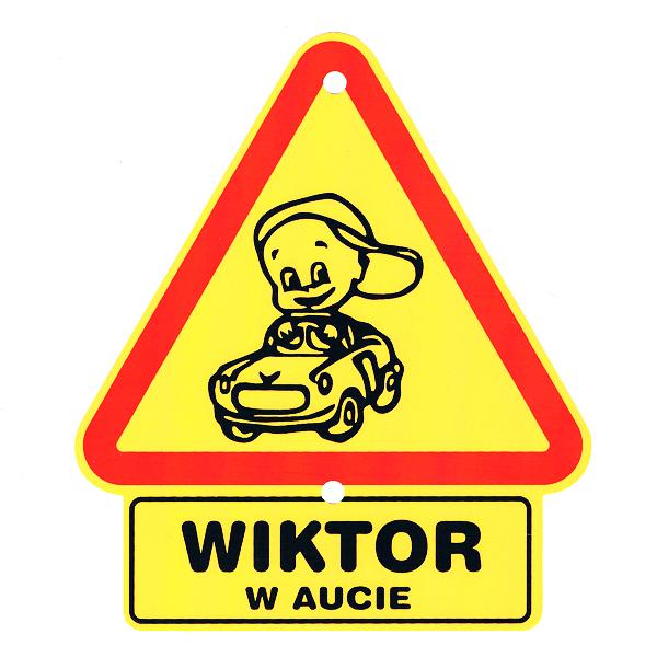 POWERGIFT Trójkąty ostrzegawcze na szybę samochodu z napisami