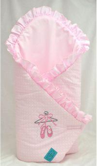 BELISIMA BABY Rożek dziecięcy Roztańczona Balerina 75x75cm