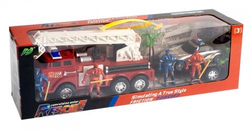 MEGA CREATIVE Auto plastikowe Straż Pożarna z wyposażeniem 306759