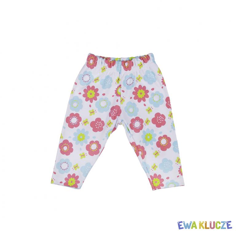 EWA KLUCZE Komplet dziewczęcy bawełna Tropical Tunika+Leginsy 62-86cm