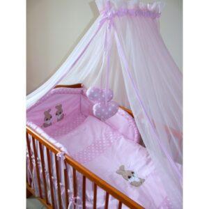 ANKRAS Baldachim z tiulu do łóżeczka dziecięcego