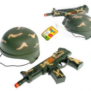 MEGA CREATIVE Zestaw wojskowy Chełm z karabinem 316284