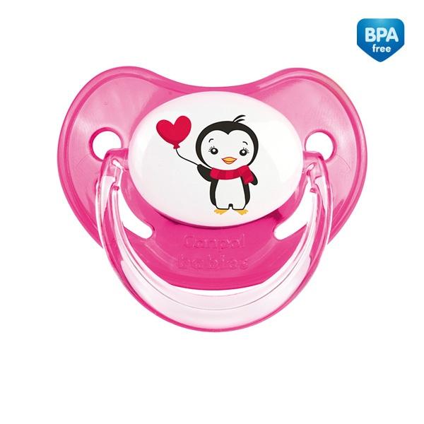 CANPOL Smoczek silikonowy Pingwinki do uspokajania niemowląt i dzieci