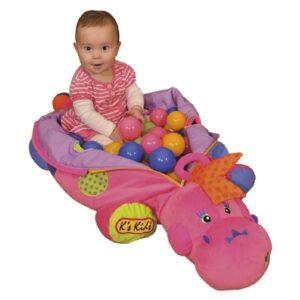 K's KIDS Jestem Szefową różowa zabawka dinozaur z piłeczkami
