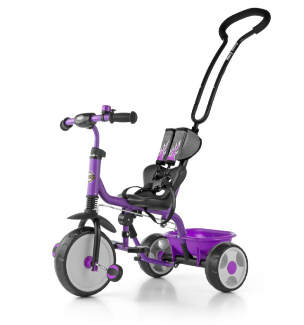 MILLY MALLY BOBY 2015 Rowerek trójkołowy z podnóżkiem