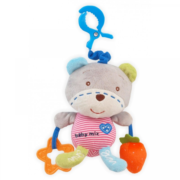 BABY MIX Zabwka podróżna z pozytywką Bear With Hearth 1129-DA00