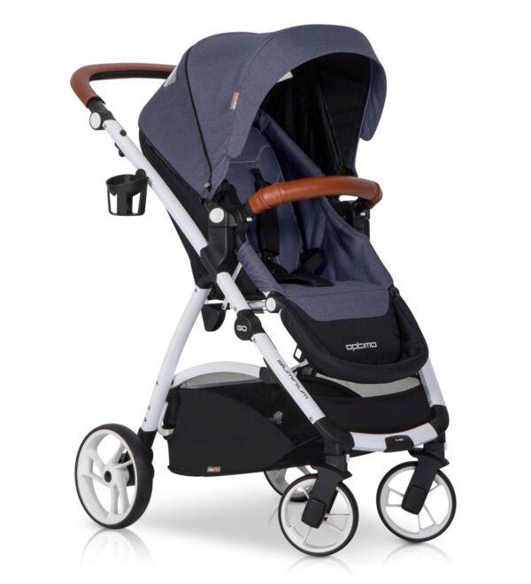 EASYGO OPTIMO Wózek spacerowy z możliwym montażem gondoli i fotelika