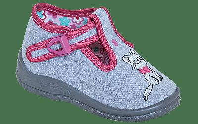 ZETPOL Poniemowlęce obuwie dziewczęce Daria Szara 2373