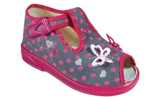 ZETPOL Poniemowlęce obuwie dziewczęce Marcelina Szara 2267